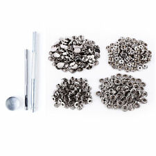 15mm Silver Large Heavy Duty Press Studs With Fixing Kit Hollow Hole Punch Tool