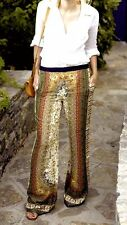 ZARA BEAUTIFUL WIDE LEG PALAZZO PRINTED PANTS TROUSERS GORGEOUS size M NEW