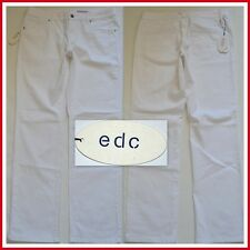WOW! NEU EDC ESPRIT STRAIGHT FIT DAMEN JEANS HOSE GR 44 REGULAR WEIß