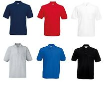 FRUIT OF THE LOOM HOMME Chemise Polo avec poitrine Poche 65-35 coton polyester