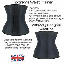 Waist Trainer Corset Waist Cincher 25 Steel Bone Girdle Faja Latex Shaper Nipper