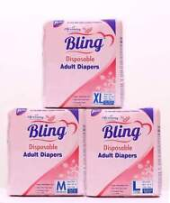 Bling || Adult Diaper ||Size-Large ,Medium ,XL || Unisex || Pack of 10 Pieces