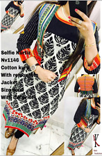 Selfie Cotton Kurtis/Kurta with removable jacket  for women