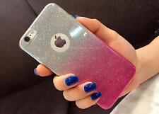 Gradient Glitter Transparent Soft Silicon Back Case Cover For Apple Iphone 7