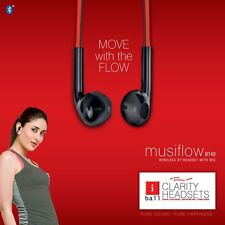 iBall MusiFlow BT40 Earphone Wireless Bluetooth Headset with Built-in Mic
