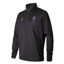 17 / 18 - NEW BALANCE LIVERPOOL BLACK HALF ZIP JACKET = ADULTS SIZE*