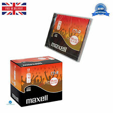 Maxell CD-R Audio Blank CDR XL-II 80 Mini pack Jewel Cased Audio Music CD's NEW