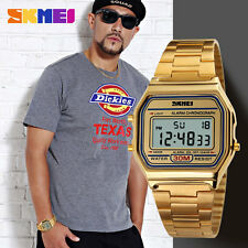 SKMEI Brand LED Digital 30m Waterproof Quartz Movement Wrist Watch Dress Men Boy