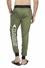 Clifton Mens BLL Printed Coloured Slimfit Trackpant-Olive-White Performance