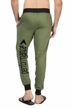 Clifton Mens BLL Printed Coloured Slimfit Trackpant-Olive-Black Performance