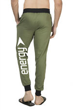 Clifton Mens BLL Printed Coloured Slimfit Trackpant-Olive-White Energy