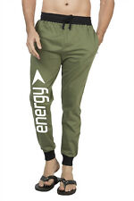 Clifton Mens FRL Printed Coloured Slimfit Trackpant-Olive-White Energy