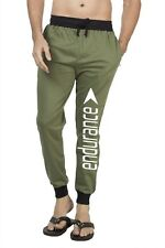 Clifton Mens FLL Printed Coloured Slimfit Trackpant-Olive-White Endurance