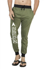 Clifton Mens FRL Printed Coloured Slimfit Trackpant-Olive-White Performance