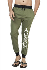 Clifton Mens FLL Printed Coloured Slimfit Trackpant-Olive-White Performance