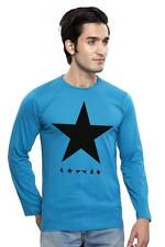 Clifton Men's Star Printed Full Sleeve R-Neck T-Shirts - Turquiose-Black Star