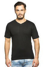 Clifton Mens Half Sleeve V-Neck T-Shirt Black