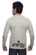Clifton Mens BB Printed Full Sleeve V-Neck T-Shirt-Off White-Black Energy