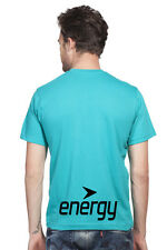 Clifton Mens BB Printed Half Sleeve V-Neck T-Shirt-Teal-Black Energy