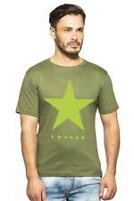 Clifton Mens Star Printed T-Shirts H/S R-Neck-Olive-Green Star