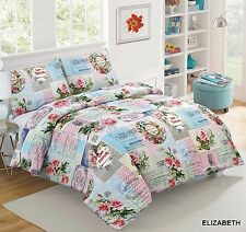 Printed Duvet Cover with Pillow Case Bedding Set Design Elizabeth in All Sizes