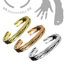 Adjustable Double Leaf Band Ring Silver/Gold Thumb/Toe/Finger/Knuckle Stack-able