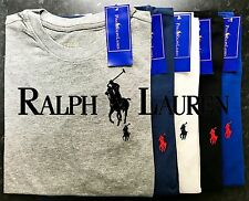 RALPH LAUREN POLO MENS SHORT SLEEVE CREW NECK TOP T-SHIRT WITH TAG S M L XL XXL