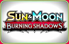 XY Sun & Moon BURNING SHADOWS Booster Code Cards - Pokemon Online TCG Codes