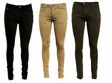 donna mimetico esercito cachi verde nero beige nudo Hipsters Jeans magrissime