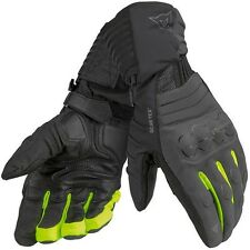 Dainese Scout Evo Gore-Tex GTX Motorcycle Gloves Carbon / Black / Fluo Yellow