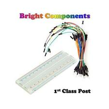 Solderless Prototype Breadboard 830,400,170 Points Holes + 65x Jumper Wires PCB