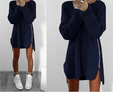 MODE FEMME PULL MANCHES LONGUES EN VRAC Pull Cardigan col chemise Pull-over haut