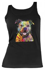 Damen Top Shirt Neon - Pitbull Herzensbrecher – Tank-Top Motiv Geschenk Hund