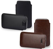 """Universal Pull Tab PU Bag Pouch Sleeve Case Cover for 5"""" to 5.5"""" Phones"""