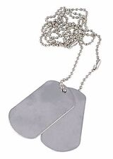 US Army Custom Dog Tags Stamped to your specifications Vietnam / WW2 - Debossed