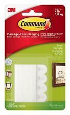 3M Command Small Adhesive Picture Poster Hanging Strips Damage Free Wall 17202