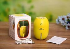 USB LED Lemon Humidifier Essential Oil Aromatherapy Diffuser Air Purifier