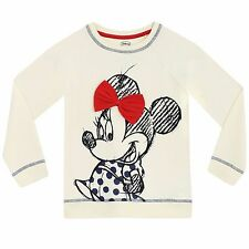 Girls Minnie Mouse Sweatshirt | Disney Minnie Mouse Sweater | Kids Minnie Jumper