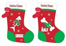 Personalised cat dog pet xmas christmas stocking santa claws paws your name