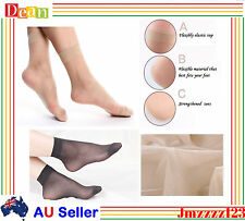 2x Ladies Women Nylon Elastic Short Ankle Sheer Stockings Silk Short Socks