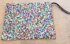 BEAUTIFUL HAND STITCHED SEQUIN LARGE MAKE UP BAG HAND MADE IN MARRAKECH
