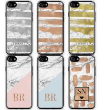 PERSONALISED WHITE MARBLE MONOGRAM HARD PLASTIC PHONE CASE FOR APPLE IPHONE 6 6S