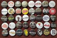 Pop Music Button Badges (Collection 1).  Pins.  Collector.  Bargain.  :0)