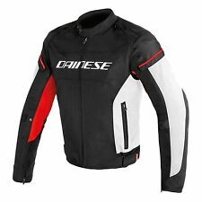Giacca moto Dainese D-Frame Tex nero bianco rosso black white red jacket