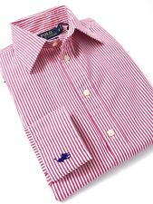Polo Ralph Lauren Women's Shirt Red Stripe Poplin Custom Fit