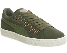 Womens Puma Suede Xl Lace OLIVE NIGHT VELVET ROPE Trainers Shoes