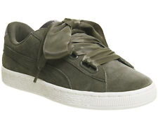 Womens Puma Suede Heart OLIVE NIGHT GOLD VELVET ROPE Trainers Shoes