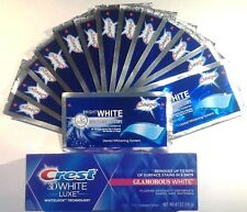 SUPERIOR ONUGE TEETH WHITENING WHITE STRIPS + CREST3D GLAMOROUS WHITE TOOTHPASTE