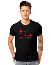 Relationshit Hourglass Timer Love Breakup  Unisex Casual T-shirt  GSM T-shirts