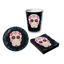Day Of The Dead Tableware Decoration Halloween Party Sugar Skull